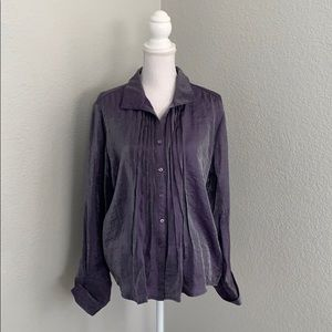 Coldwater Creek Purple Iridescent Blouse